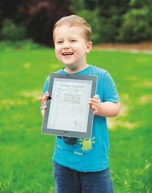Kind mit Solinger Tageblatt heute